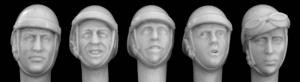 Hornet Models 5 different heads with WW2 French tank helmet