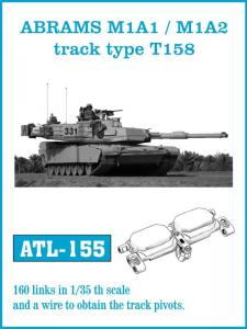 Friulmodel ABRAMS M1A1 / M1A2 track type T158 - Track Links