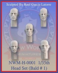 New World Miniatures 5 heads