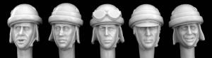 Hornet Models 5 Heads for Italian WWII AFV crewman and Motorcyclist