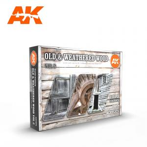 AK Interactive Old & Weathered Wood, Vol 2 Cold Colors