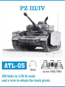 Friulmodel Pz.Kpfw.III / IV 40cm Tracks 1942-1945 - Track Links