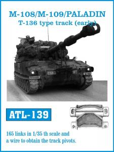"""Friulmodel M-108/M-109/Paladin T-136 """"Early"""" Type Track - Track Links"""