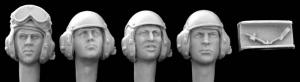 Hornet Models 4 Heads with separte microphones, US Tank crew, 190 to present