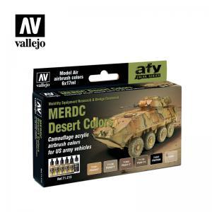 Vallejo Model Air - MERDC Desert Colors Paint Set