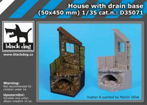 Black Dog House With Drain Base (50x450mm)