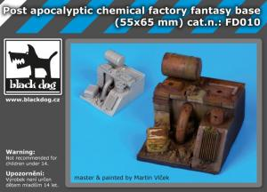 Black Dog Post apocalyptic chemical factory fantasy base (55x65mm)