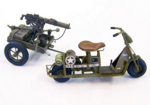 Plus Model U.S. Airborne scooter with machine gun
