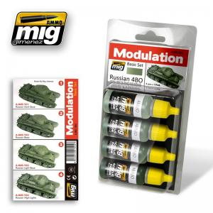 Ammo Mig Jimenez Russian 4BO - Smart Modulation Set