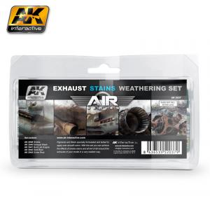 AK Interactive EXAUSTS & STAINS WEATHERING SET