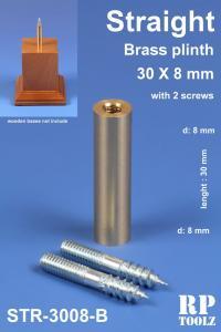 RP Toolz Plinth, Straight 30 x 8 mm, Brass