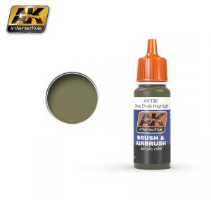 AK Interactive OLIVE DRAB HIGH LIGHTS 17 ml