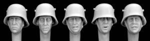 Hornet Models 5 German M18 Steel helmets WW1- WWII Heads