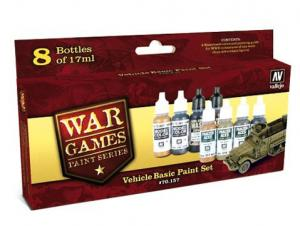 Vallejo Model Color Set - Vehicle Basic Paint Set