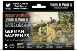 Vallejo WWII GERMAN WAFFEN SS (x6)