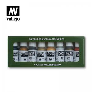 Vallejo Model Color Set - Metallic Colors set (x8)