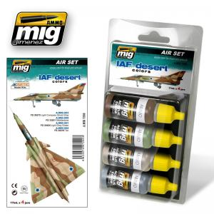 Ammo Mig Jimenez IAF Desert, color set 4x17ml.