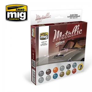 Ammo Mig Jimenez Metallic Colors Set