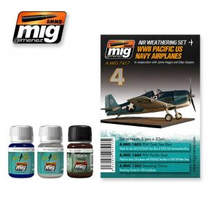 Ammo Mig Jimenez WWII Pacific US Navy Airplanes, Weathering set 3x35ml.