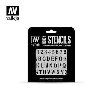 Vallejo Stamp Font