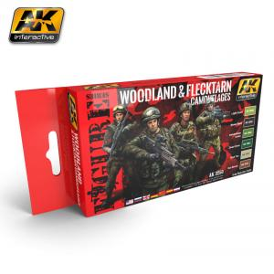 AK Interactive WOODLAND AND FLECKTARN MODERN CAMOUFLAGES