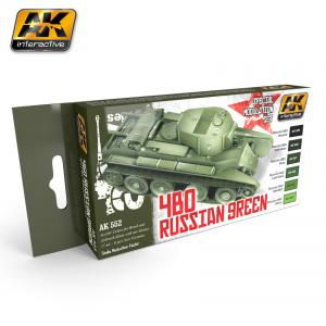 AK Interactive 4BO RUSSIAN GREEN MODULATION SET