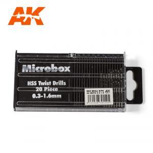 AK Interactive MICROBOX HSS DRILL BITS (0.3 -1.6)