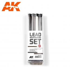 AK Interactive LEAD WEATHERING SET HARD