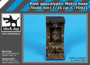 Black Dog Post Apocalyptic Metro Base (70x60 mm)