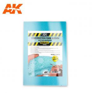 AK Interactive CONSTRUCTION FOAM 6&10MM - BLUE FOAM 195 x 295 MM (2 SHEETS)