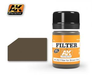 AK Interactive RED BROWN FILTER (FILTER FOR WOOD)