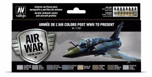 Vallejo ARMÉE DE L'AIR COLORS POST WWII TO PRESENT