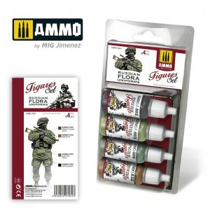 Ammo Mig Jimenez Russian Flora Uniforms Figure Paint Set
