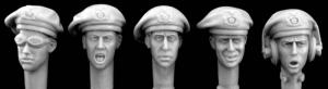 Hornet Models 5 Early WWII German panzer beret Heads