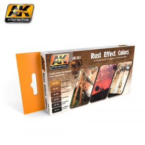 AK Interactive RUST EFFECTS COLORS SET