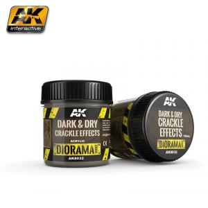 AK Interactive DARK & DRY CRACKLE EFFECTS - 100ml (Acrylic)