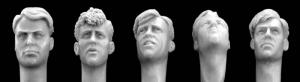 Hornet Models 5 more heads with WW2 style haircuts