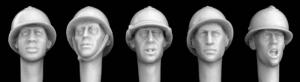 Hornet Models 5 Heads with WWII French Type Steel Helmets