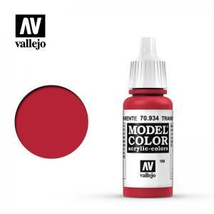 Vallejo Model Color 186 - Transparent Red