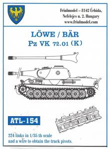 Friulmodel Löwe/Bär Pz VK 72.01 (K) - Track Links