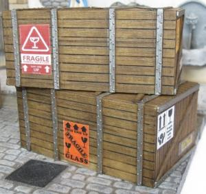Reality in Scale Large Shipping Crates - 2pcs. & decals