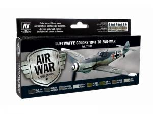 Vallejo Model Air Paint Set (8), Luftwaffe Colors 1941 to End-War.