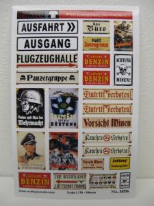 Reality in Scale Enamel Signs WWII - Germany set 1 - 25 signs