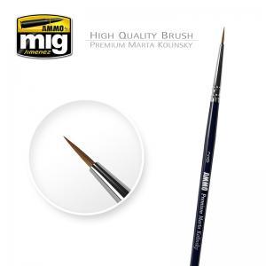 Ammo Mig Jimenez 2/0 Premium Marta Kolinsky Round brush