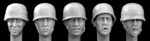 Hornet Models 5 Heads wearing German Paratroop helmet WWII