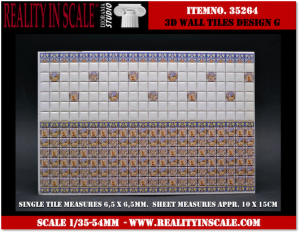 Reality in Scale 3D Wall Tiles - Design G