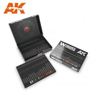 AK Interactive WEATHERING PENCILS DELUXE EDITION BOX (37 waterperncil colors)