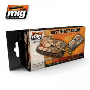 Ammo Mig Jimenez Rust Effects, color set 6x17ml.