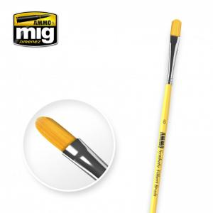 Ammo Mig Jimenez 6 Synthetic Filbert Brush