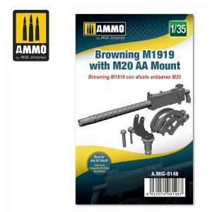Ammo Mig Jimenez Browning M1919 with M20 AA Mount